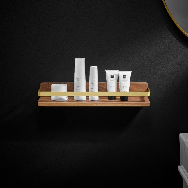 Walnut Wood with AL Cosmetic Shelf